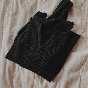 Brandy Melville thermal charcoal top